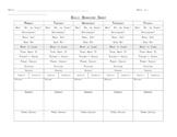 Daily Clip Chart Behavior Sheet