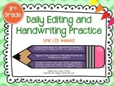 Daily Editing and Handwriting Practice (Unit One) - Treasu