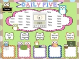 Daily Five Assignments Owl Themed Interactive Promethean Board