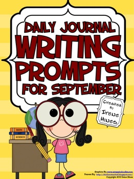 September: Daily Journal Writing Prompts ~ A Back To Schoo