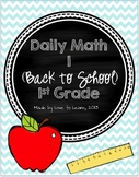 Daily Math 1 (Back to School) First Grade