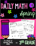 Daily Math 4 (Spring) Third Grade