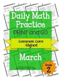 Daily Math Practice - PRINT and GO - March