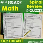 Daily Math Review - Fourth Grade - Spiral Math Review