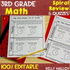 Third Grade Daily Math Review - Spiral Math Review for Thi