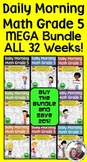 Daily Morning Math Grade 5  MEGA Bundle {Weeks 1-32}