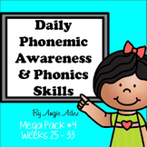 Daily Phonemic Awareness and Phonics Skills Mega Pack #4 (