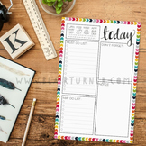 Daily Planner Notepad: Rainbow Chevron {2 Pack}