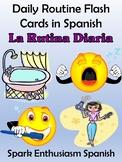 Daily Routine (La Rutina Diaria) Flash Cards in Spanish (82)!