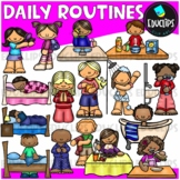 Daily Routines Clip Art Bundle