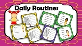 Daily Routines, Present Simple  Telling Time Printable  Po