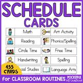 Daily Schedule Cards - PreK, Kdg, 1st