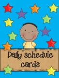 Daily Schedule Cards-Rainbow Themed
