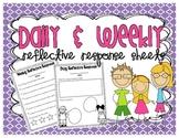 Daily & Weekly Reflective Response Sheets