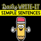 Daily Write-It: Dictated Wrting Routine w/ Simple Sentence