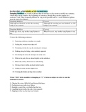 Dangling and Misplaced Modifiers Worksheet (No key included)