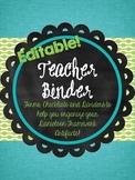 Danielson Framework Teacher Binder - Editable