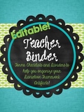 Danielson Framework Teacher Binder - Editable