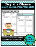 Day at a Glance Lesson Planner for Your Teacher Binder {Te