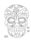 Day of the Dead Mask (dia de los muertos)