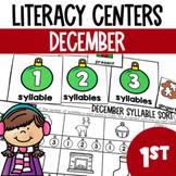 Christmas Literacy Center Fun