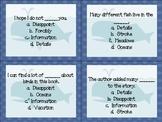 Dear Mr. Blueberry Quiz Quiz Trade Cards Harcourt Trophies 2nd