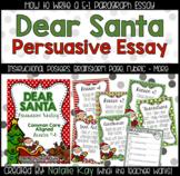 """""""Dear Santa"""" Letter - Persuasive Writing - Common Core Aligned"""