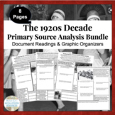 Decade of Roaring 20s 1920s U.S. History Primary Source An