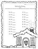 December Addition and Subtraction Fluency K.OA.5