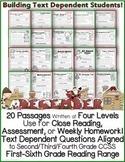 December Close Reading Passages w/ Common Core Aligned Tex