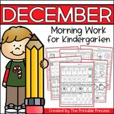 December Morning Work for Kindergarten {Common Core Aligned}