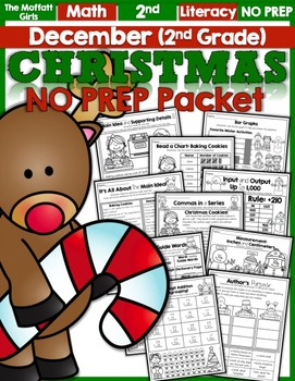 December NO PREP Math and Literacy (2nd Grade)