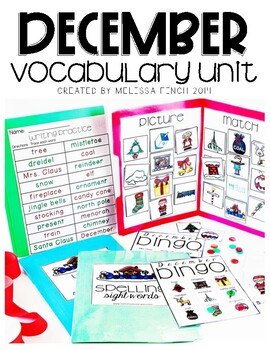 December Vocabulary Unit- Boardmaker Curriculum for Student's with Special Needs