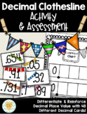 Decimal Clothesline Game/Activity  - Ordering Decimals to