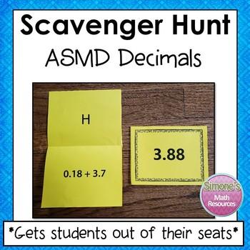Decimal Pemdas Scavenger Hunt