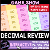 Decimal Review Game Show