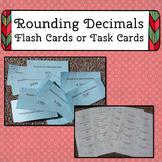 Decimal Rounding Flash Cards