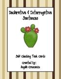 Declarative or Interrogative Sentence Task Cards