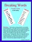 Decoding Words - Breaking Words