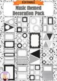 Editable Decoration Pack - Music