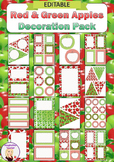 Editable Decoration Pack - Red & Green Apples