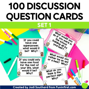 Deep Thinking for Little Minds {Question Cards for Classroom Discussions}