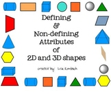 Defining Non-Defining Attributes of 2d & 3d Shapes SmartBo