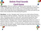Deleting Final Sound Phonemic Awareness Card Game