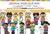 Dental Kids Clip Art