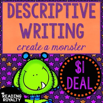 Descriptive Writing - Create a Monster: $1 Deal