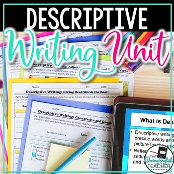 Descriptive Writing Mini-Unit - CCSS Aligned - Grades 6-10