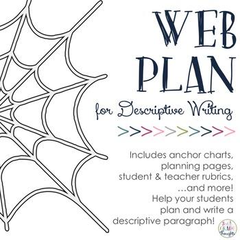 Descriptive Writing: Sensory Web Planning Packet