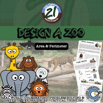 Design a Zoo -- Integrated Geometry Area & Perimeter Project