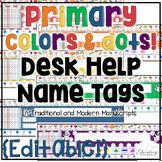 Desk Help Nametags: Common Core Aligned
